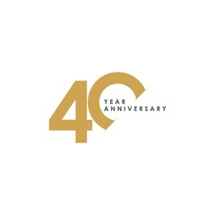 Obraz 40 Year Anniversary Vector Template Design Illustration - fototapety do salonu