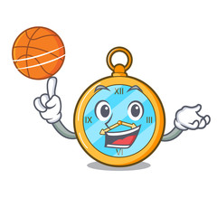 With basketball Pocket vintage watch on a cartoon