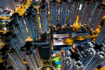 Hong Kong residential at night
