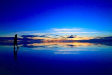 ウユニ塩湖、ボリビア、南米