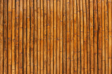 Wooden Bamboo Walls. The arrangement of bamboo.