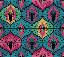 Retro pattern in oriental style.