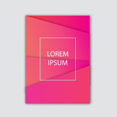 cover template design with colorful abstract background