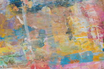 artistic multicolored blots on recycled paper background texture