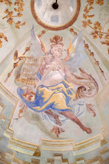 Angel, fresco in the chapel of Saint George in Purga Lepoglavska, Croatia