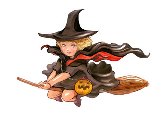 Illustration of a witch icon vector for Halloween