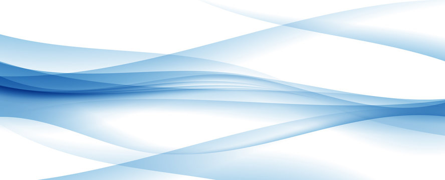 Abstract Blue Wave on  Background. Vector Illustration