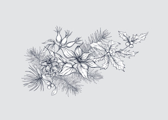 Christmas decoration, a wreath made of fir branches