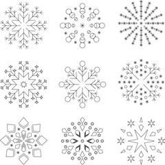 9 Snowflakes, Stars, Ornaments