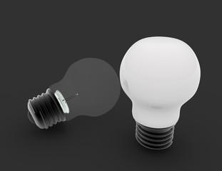 3d lightbulb concept . 3d rendered illusration