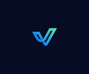 letter V logo designs template