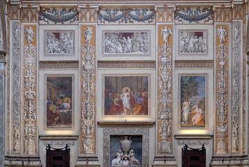 Interior of the basilica of Saint Andrew in Mantua, Italy