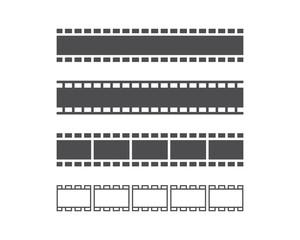 filmstrip vector template