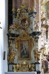 Guardian angel, altar in the church of Immaculate Conception in Lepoglava, Croatia