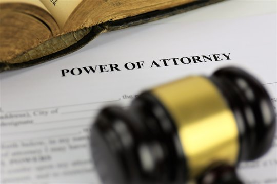 An Image of a attorney of power