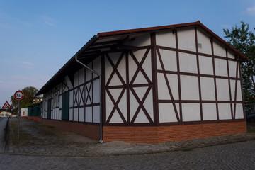 ein altes Fachwerkgebäude