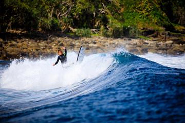 Surfing some Queensland waves