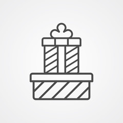 Gift vector icon sign symbol