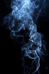 Fototapete - smoke on black background.