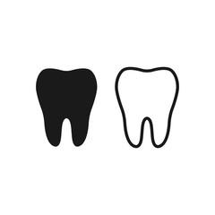 Tooth Icon vector symbol health concept sign