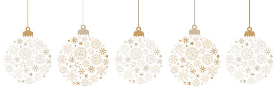 hanging bright christmas ball decoration with snowflakes vector illustration EPS10