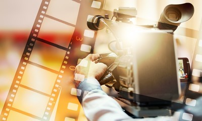 Film actor background broadcast camera cinema commercial