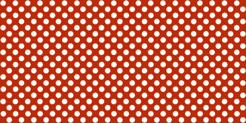 Roter Hintergrund mit nahtlosen weißen Punkten