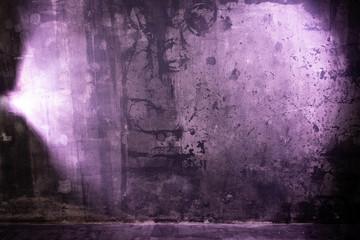 Room with violet light