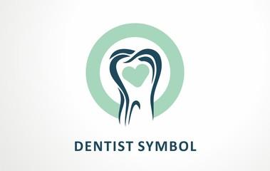 Abstract vector illustration of teeth. Teeth vector image usable like logo, logos, icon, symbol, for dental clinic or dentist.