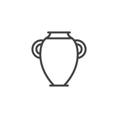 Fototapeta Ancient Amphora outline icon. linear style sign for mobile concept and web design. Hebrew jug simple line vector icon. Symbol, logo illustration. Pixel perfect vector graphics obraz