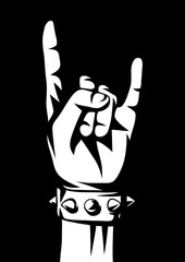 Rock and roll or heavy metal hand sign.