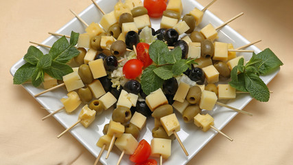 Cheese Skewers Platter