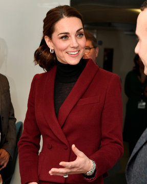 Britain's Catherine, Duchess of Cambridge visits a UCL Developmental Neuroscience Laboratory, in London