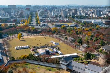HImeji Castle park in Himeji, Hyogo Prefecture, Japan.