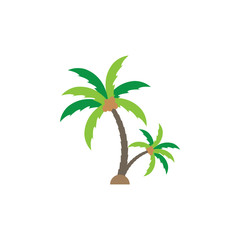 Palm tree graphic design template vector