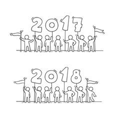 2018 Happy New Year background.