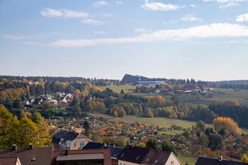 the little city Schöneck in Vogtland