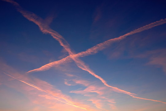 letter in the x in the blue sky