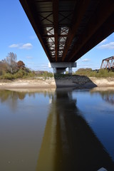 Underneath the Mississippi Highway 7 bridge crossing the Little Tallahatchie River in Lafayette County Mississippi