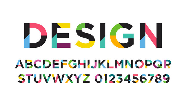 Colofrul Vector of modern abstract font and alphabet