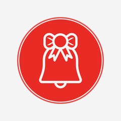 Christmas bell vector icon sign symbol