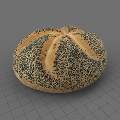 Poppy seed bread roll