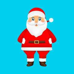 Santa Claus on blue background holiday illustration