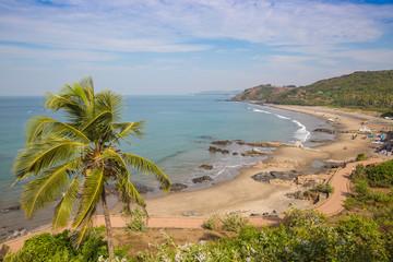 View of Vagator Beach, Goa, India, Asia