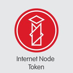 Internet Node Token - Digital Coin Vector Icon