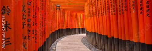 Fototapete Fushimi Inari Taisha Schrein, Kyoto, Japan