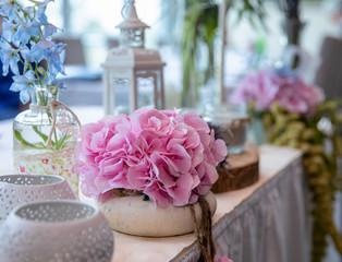 flowers vintage table decoration