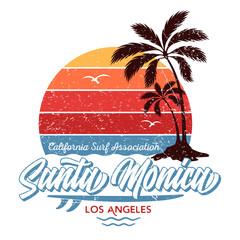 Santa Monica / Los Angeles - Tee Design For Printing