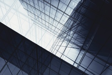 Obraz architecture of geometry at glass window - monochrome - fototapety do salonu