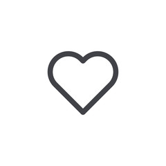 Vector heart icon. Outline heart icon. Heart shape. Love symbol Valentine's Day. Element for design logo mobile app interface or website